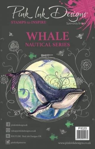 Pink Ink A5 Whale Clear Stamp Set